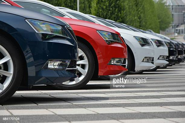 Skoda cars in a row