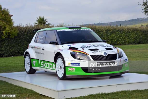 skoda fabia in rally car version - rally car stock photos and pictures