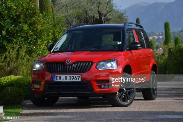 skoda yeti monte carlo at the press launch - monte carlo stock pictures, royalty-free photos & images