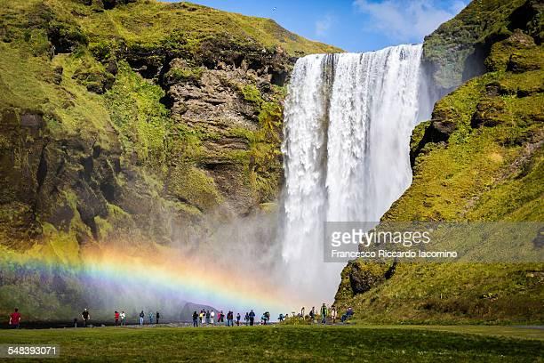 Skogafoss in rainbow, Iceland