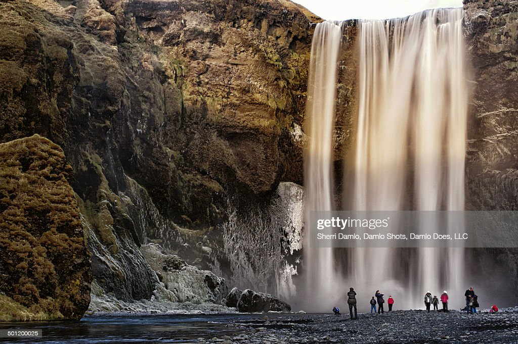 Skogafoss waterfall in the winter : Stock Photo