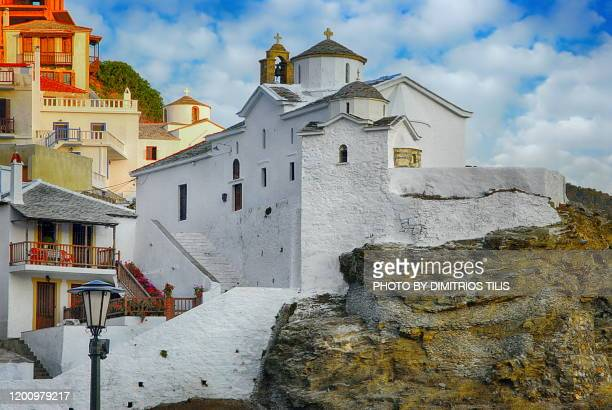 skopelos emblematic point 2 - dimitrios tilis stock pictures, royalty-free photos & images