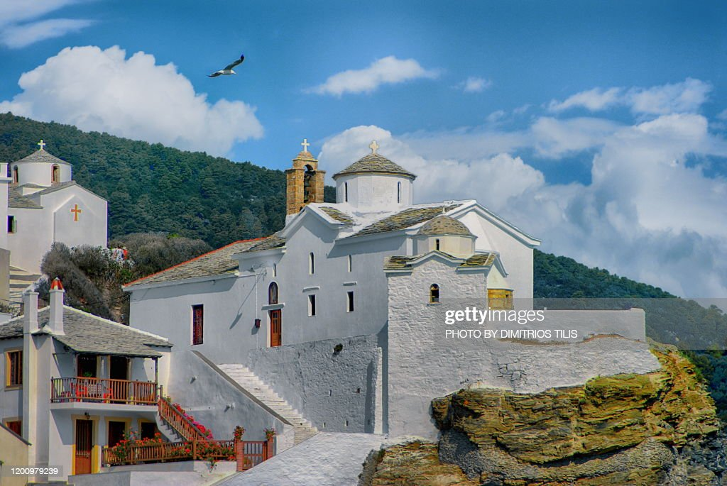 Skopelos emblematic point : Stock Photo
