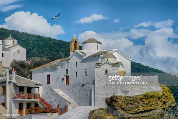 skopelos emblematic point - dimitrios tilis stock pictures, royalty-free photos & images