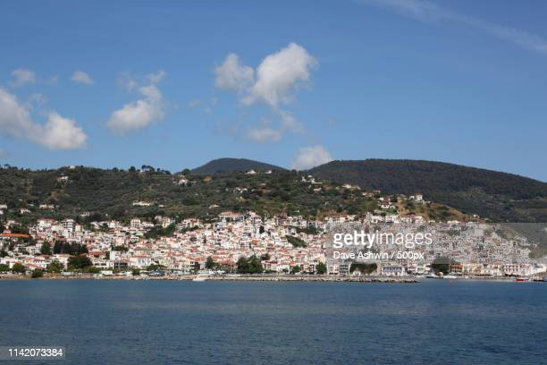 skopelos town - dave ashwin stock pictures, royalty-free photos & images
