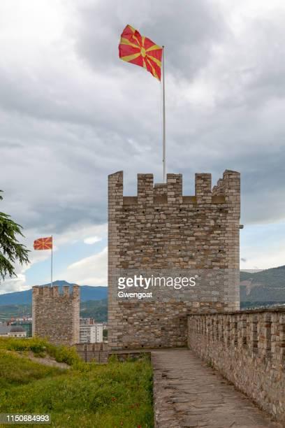 skopje fortress - gwengoat stockfoto's en -beelden