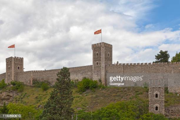 skopje fortress - skopje stock pictures, royalty-free photos & images