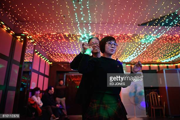 SKorealifestyleculturepopulationageing FEATURE by Jung HaWon In a photo taken on February 4 2016 a couple dance at a 'colatec' in Seoul As the...