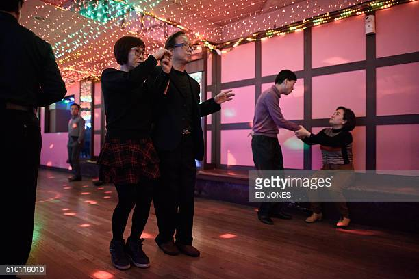 SKorealifestyleculturepopulationageing FEATURE by Jung HaWon In a photo taken on February 4 2016 a man asks a woman to dance at a 'colatec' in Seoul...