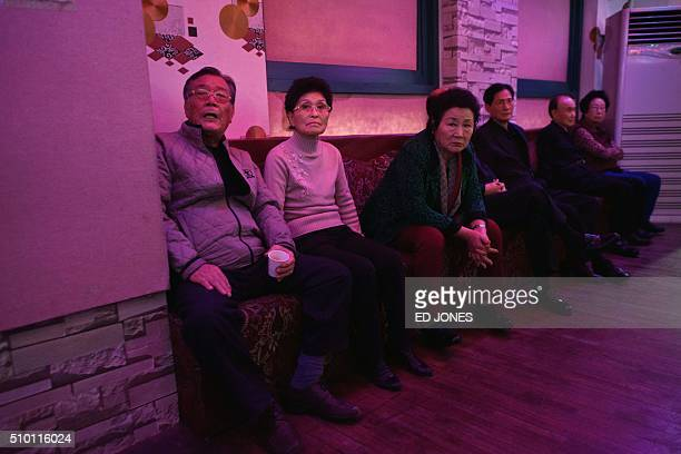 SKorealifestyleculturepopulationageing FEATURE by Jung HaWon In a photo taken on December 2 2015 singles wait for the offer of a dance at a 'colatec'...
