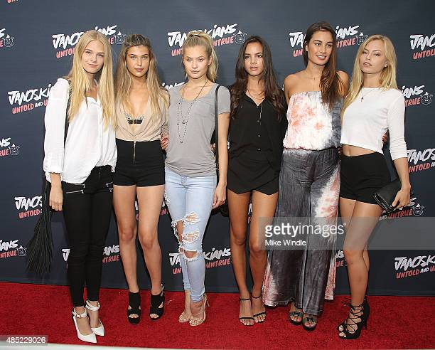 KJ Skorge Charlotte D'Alessio Josie Canseco Christine Burke Milena Gorum and Ashley Graves attend the premiere of Awesomeness TV's Janoskians Untold...
