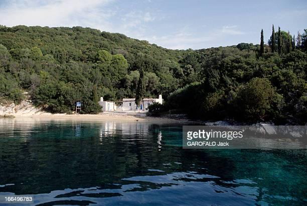 Skorpios Island octobre 1992 Reportage sur l'île de Skorpios près de la Grèce Vue générale de l'île de SKORPIOS