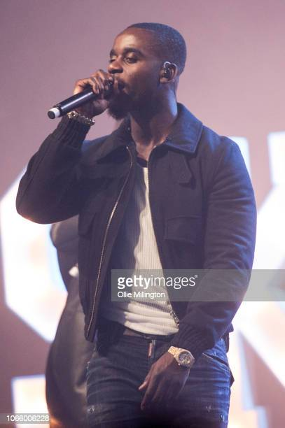 Skrapz performs onstage during the Different Cloth Part II tourat O2 Forum Kentish Town on November 27 2018 in London England