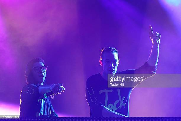 Skrillex and Diplo perform as Jack U during Hangout Music Festival 2015 on May 15 2015 in Gulf Shores Alabama