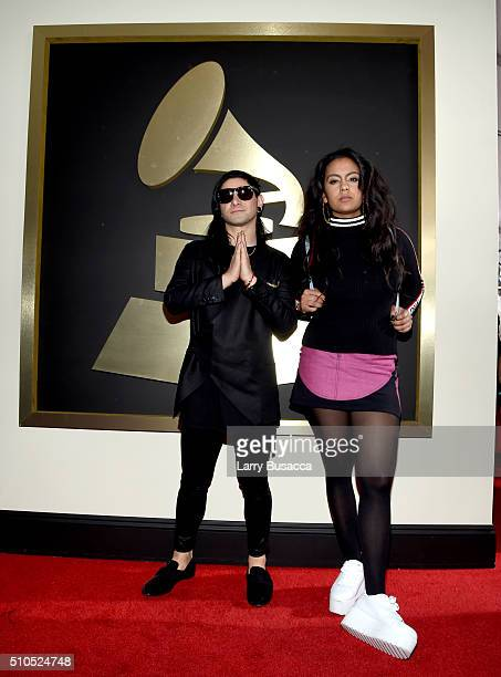 Skrillex and guest attend The 58th GRAMMY Awards at Staples Center on February 15 2016 in Los Angeles California