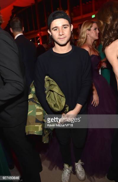 Skrillex attends the 2018 Vanity Fair Oscar Party hosted by Radhika Jones at Wallis Annenberg Center for the Performing Arts on March 4 2018 in...