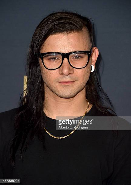 Skrillex attends the premiere of The Vladar Company's 'Jeremy Scott The People's Designer' at TCL Chinese 6 Theatres on September 8 2015 in Hollywood...