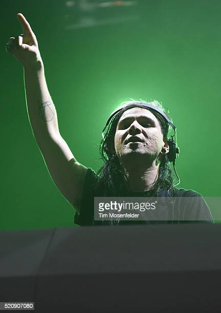 Skrillex of Jack U performs at the Bill Graham Civic Auditorium on April 12 2016 in San Francisco California