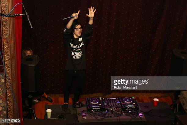 Skrillex performs Private Concert for SiriusXM listeners at The Slipper Room in New York City Performance Airing Live On SiriusXM's Electric Area...