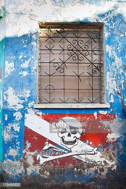 Skull and Crossbones on a storefront