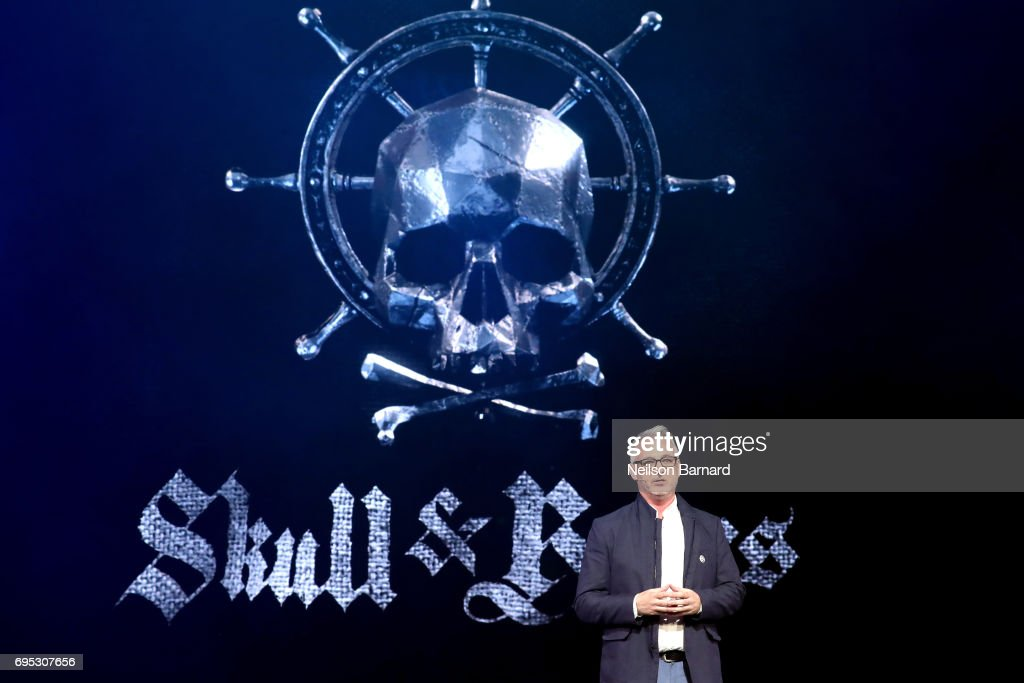 'Skull & Bones' Creative Director Justin Farren speaks onstage during the Ubisoft E3 2017 conference at Orpheum Theatre on June 12, 2017 in Los Angeles, California.
