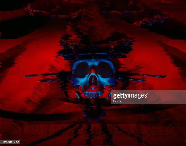 Skull Glitchy Evil Artificial Intelligence