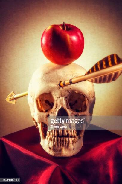 Skull with Apple and Arrow