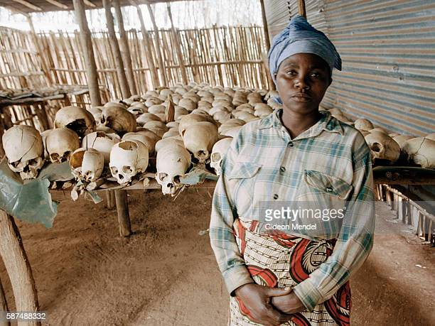 Skulls at Ntamara Church in Kigali one of the many churches that were the scene of massacres during the genocide Dancille Nyirabazungu was pregnant...