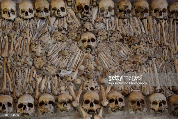 Skulls in the Chapel of Bones in Evora