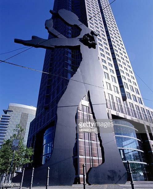 QianLei Moderne Malerei Wandkunst Die Sch/önheit des Turms von Babel Bild Home Wohnzimmer Leinwanddruck 50x75cm No Frame
