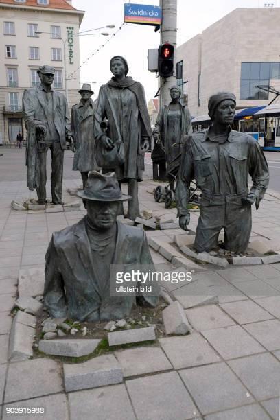 Skulpturengruppe DER ÜBERGANG in Wroclaw/Breslau