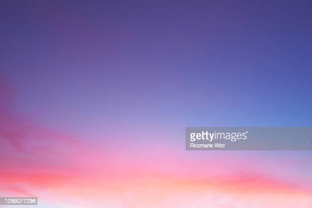 sky above:brillant color gradient - morgendämmerung stock-fotos und bilder