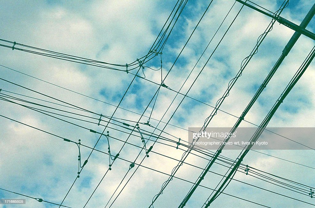 Sky And An Electric Wire Stock Photo   Getty Images