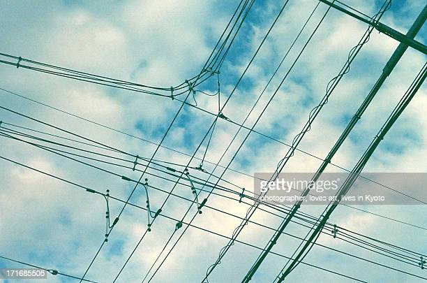 sky and an electric wire