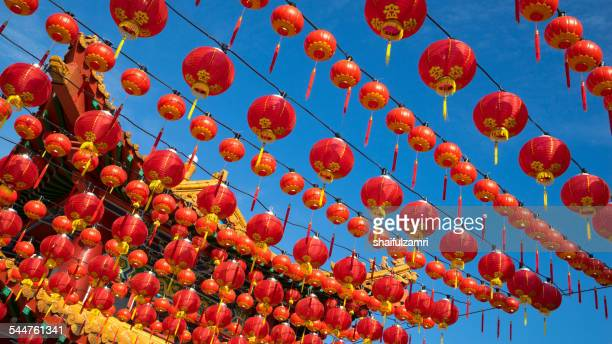 sky and lantern - shaifulzamri stock pictures, royalty-free photos & images