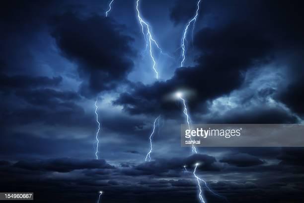 Sky and lightnings