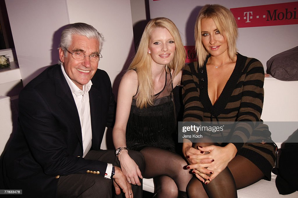 Sky and Mirja Dumont and singer Sarah Connor attend the