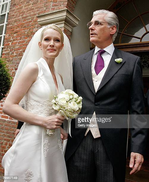 Sky and Mirja Dumont arriving for their wedding ceremony at the WeddingChurch in Nienstedten on September 22 2007 in Hamburg Germany
