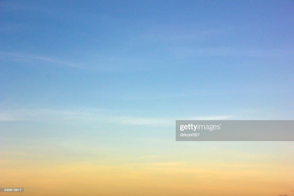 sky as sunset : Stock Photo