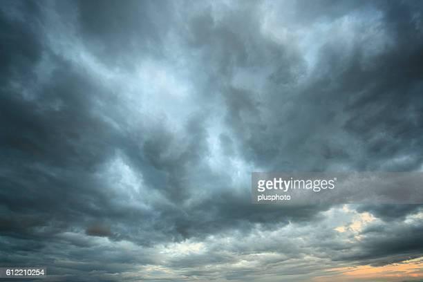 Sky at dusk, Hokkaido Prefecture, Japan