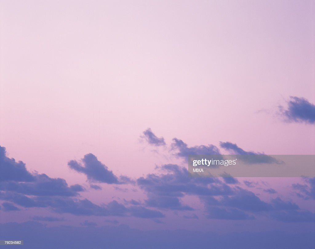 Sky at dusk in Tahiti : Stock Photo