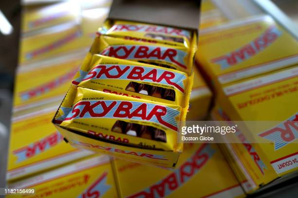 Sky Bars made by Louise Mawhinney are displayed in Sudbury MA on Nov 8 2019 New England Confectionery Co's Sky Bar was born in 1938 and went defunct...