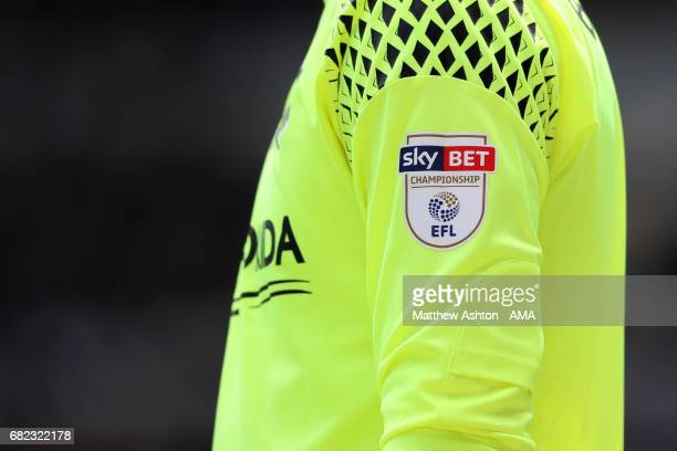 Sky Bet Championship badge on the goalkeeping shirt of Marcus Bettinelli of Fulham during the Sky Bet Championship match between Sheffield Wednesday...