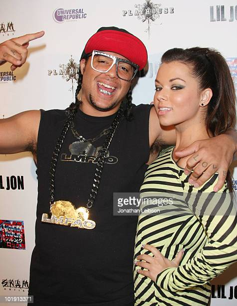 Sky Blue and Chelsea Korka arrive for the Official Album Release Party For Lil Jon's New Album Crunk Rock at Playhouse Hollywood on June 8 2010 in...