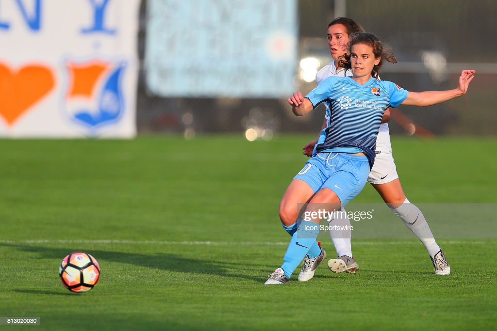 Sky Blue FC midfielder Daphne Corboz (10) during the first half of the National Womens Soccer League game between Sky Blue FC and FC Kansas City on July 08, 2017, at Yurcak Field in Piscataway, NJ.