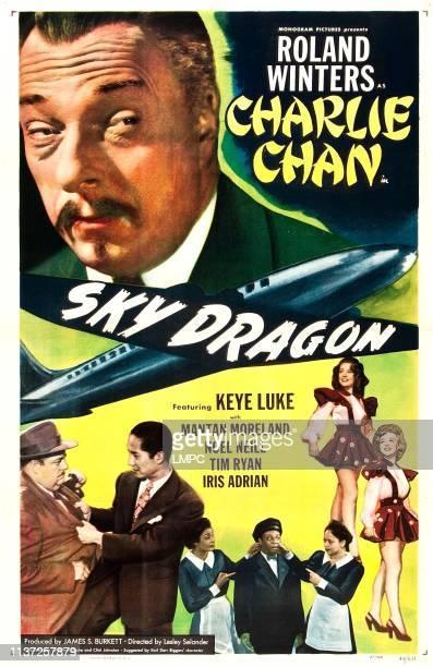 Sky Dragon, poster, , US poster, Roland Winters , bottom from left: Paul Maxey, Keye Luke, bottom right from top: Noel Neill, Iris Adrian, bottom...