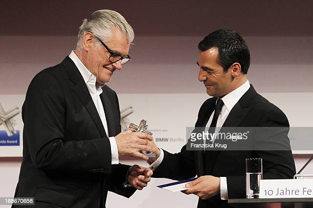 Sky Du Mont and Erol Sander at the 10th Anniversary Of The Felix Burda Award at Hotel Adlon in Berlin