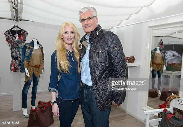Sky du Mont and Mirja du Mont attend Shop Opening of Desdemona by Mirja du Mont on April 29 2014 in Hamburg Germany