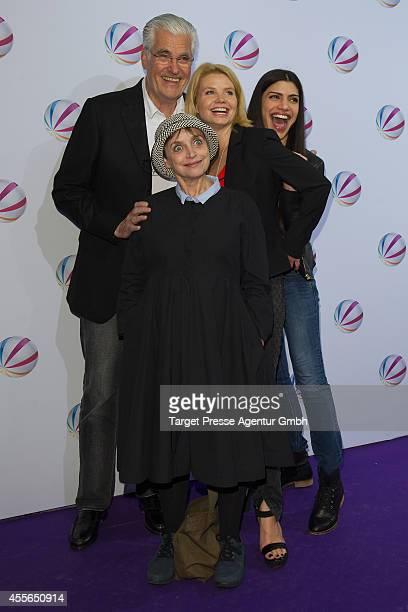 Sky du Mont Katharina Thalbach Annette Frier and Shadi Hedayati attend the 'Die Schlikkerfrauen' photocall at Babylon on September 17 2014 in Berlin...