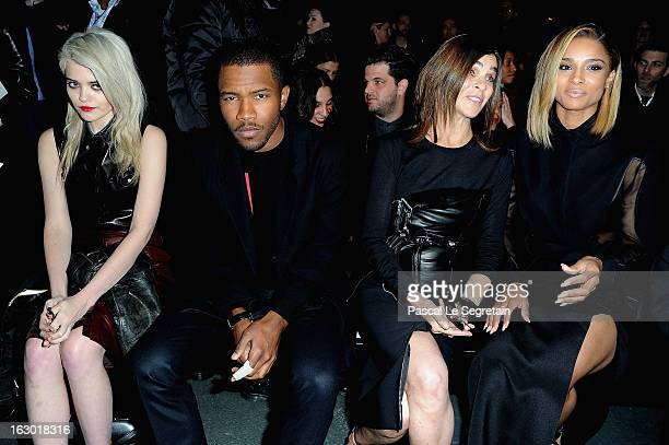 Sky Ferreira Frank Ocean Carine Roitfeld and Ciara attend Givenchy Fall/Winter 2013 ReadytoWear show as part of Paris Fashion Week on March 3 2013 in...